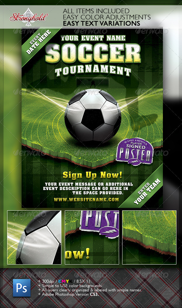 GraphicRiver Soccer Tournament Flyer Event Template 2021762
