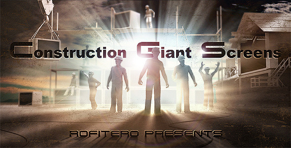 After Effects Project - VideoHive Construction Giant Screens 2022753