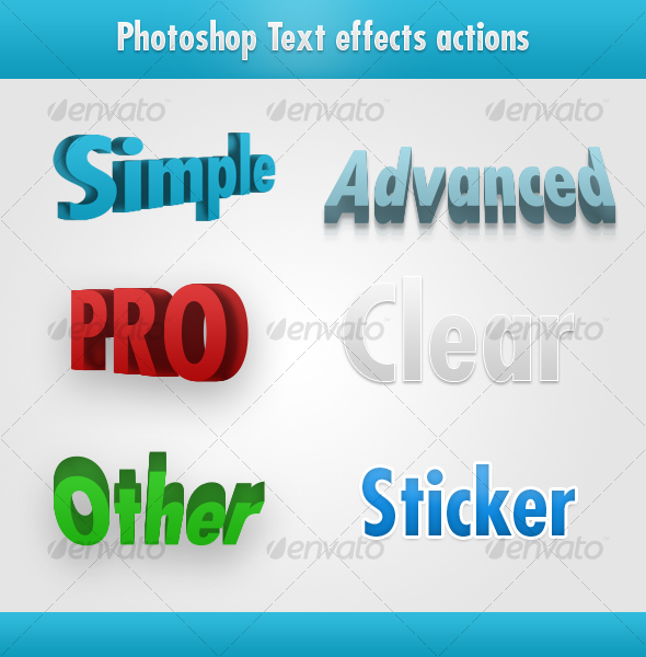 GraphicRiver Photoshop awesome text effects 40469