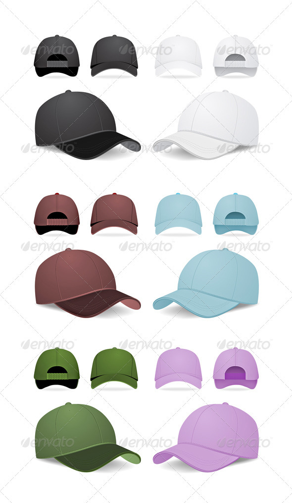GraphicRiver Blank Baseball Caps 2023685