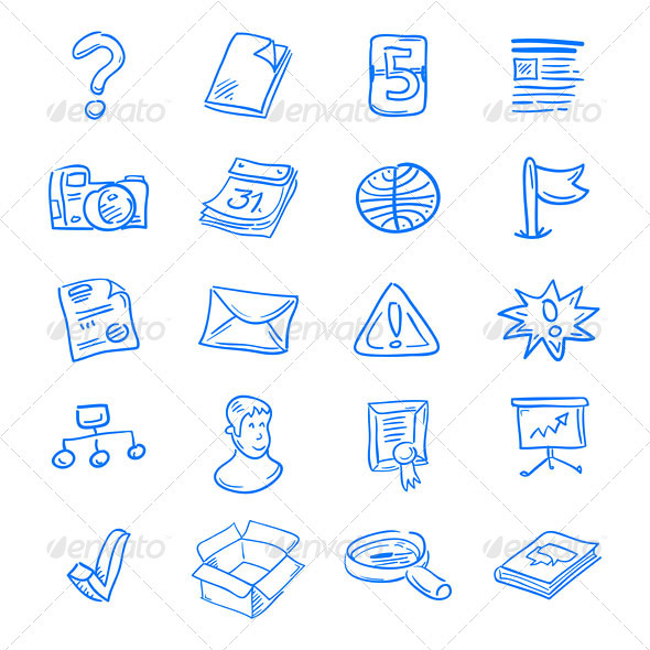 Graphic River Blue web icons Vectors -  Conceptual  Technology  Web 2024215