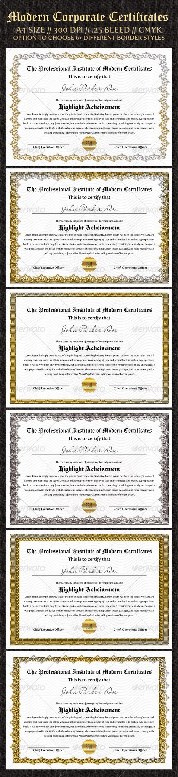 GraphicRiver Corporate Certificates 989532