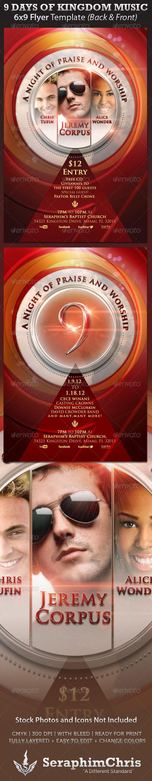 GraphicRiver 9 Days of Kingdom Music Flyer 759248