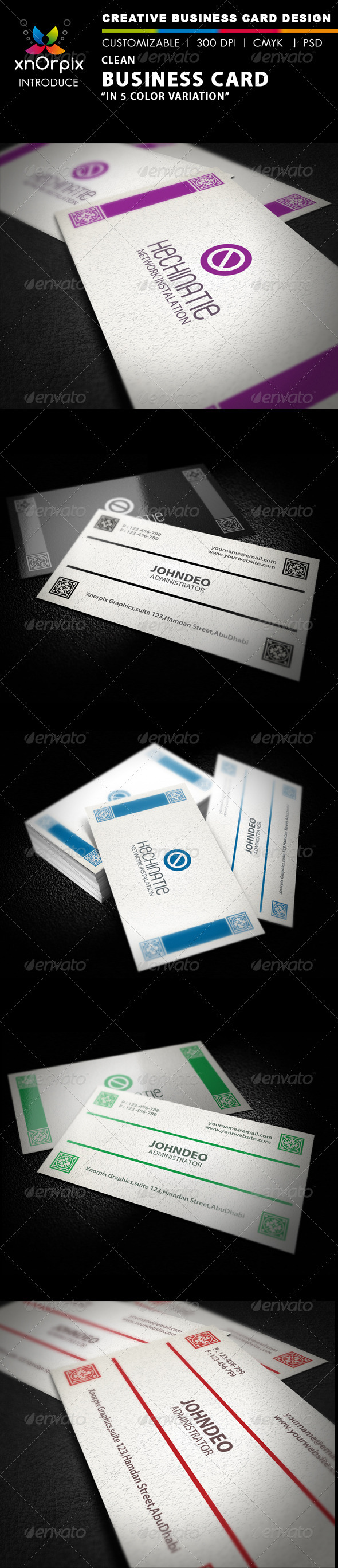 Graphic River Clean Business Card Print Templates -  Business Cards  Corporate 2026335