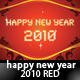 Happy New Year 2010 Red  - GraphicRiver Item for Sale