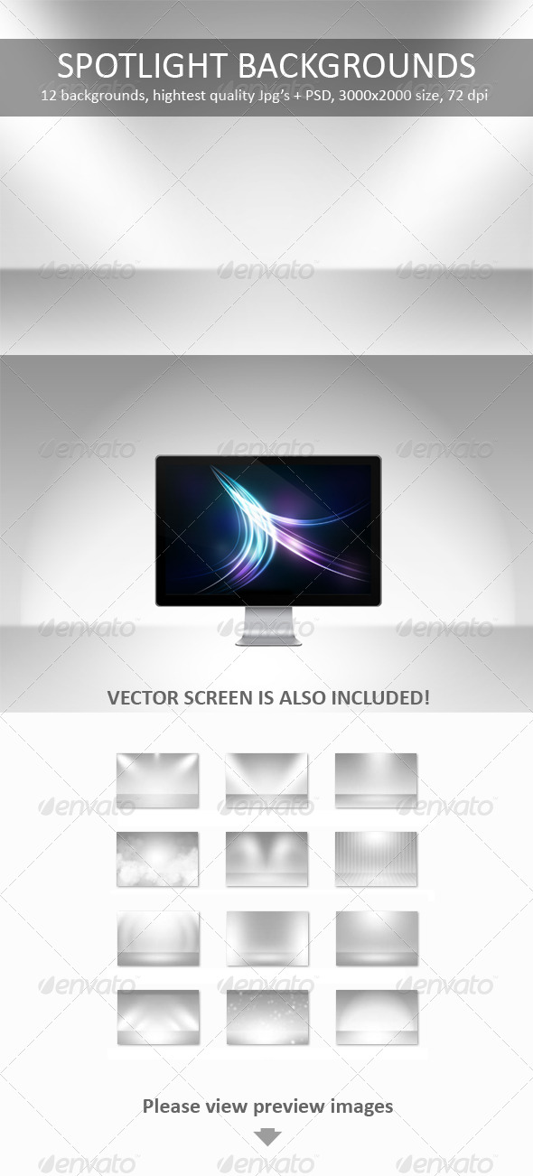 GraphicRiver 12 Spotlight Backgrounds Pack 235661
