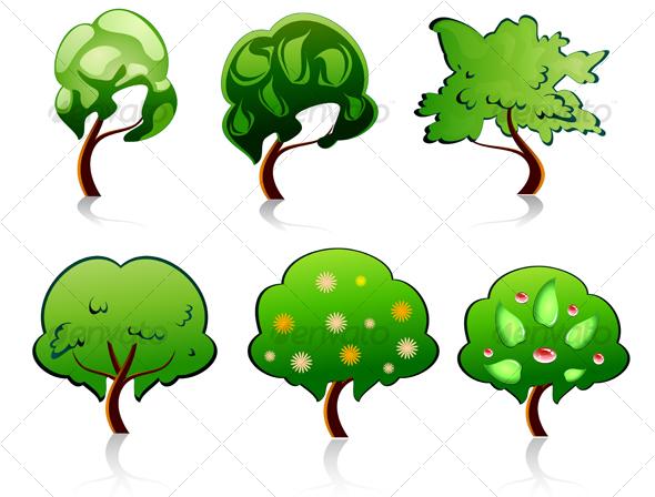 GraphicRiver Set of tree symbols 77353