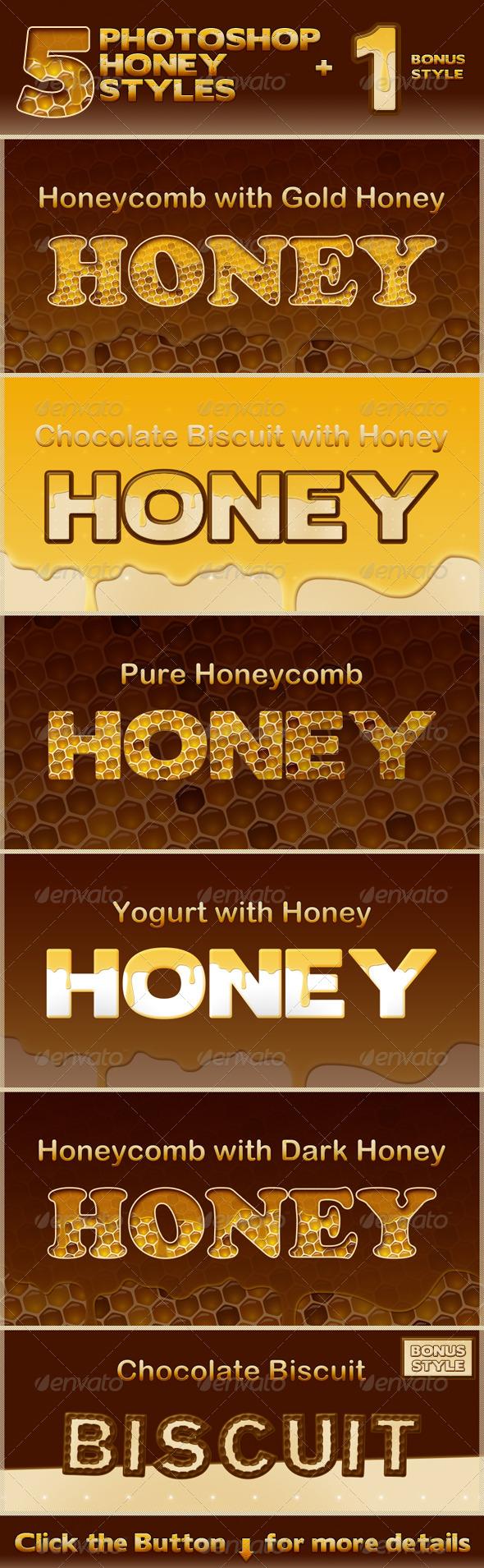 GraphicRiver Honey Photoshop Styles 235963