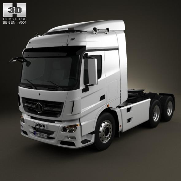 3DOcean Beiben V3 Tractor 3-axis 2012 2032559