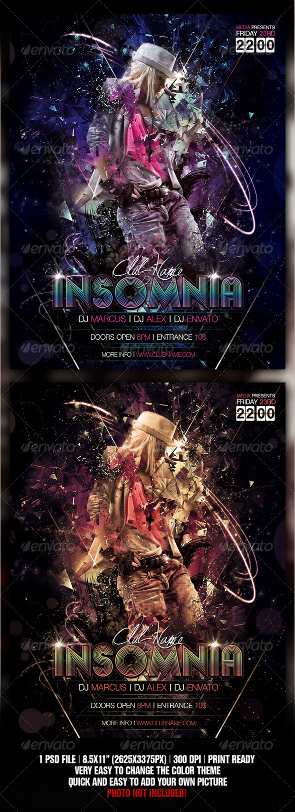 GraphicRiver Insomnia Night Club Party Concert Flyer Poster 560383