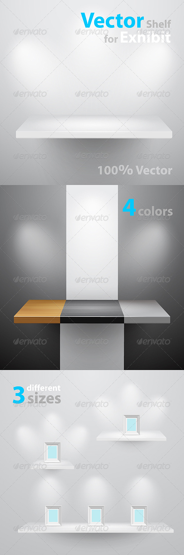 Graphic River Vector shelf for exhibition Vectors -  Objects  Man-made objects 236313
