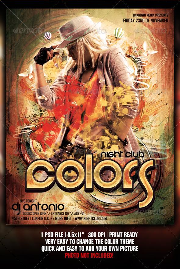 GraphicRiver Colors Flyer Poster Design 927946