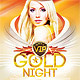 Gold Night Party Flyer - GraphicRiver Item for Sale