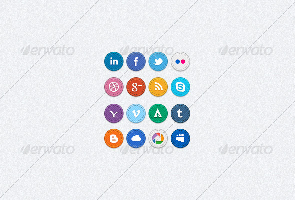 GraphicRiver Hand Stitched Social Media Icons 2035511