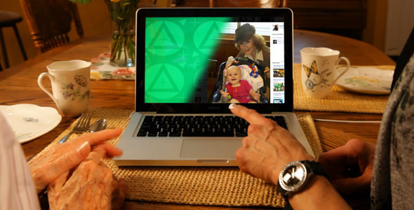 VideoHive Grandma Visit Laptop ScreenDub 2035525