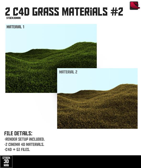 3DOcean 2 Cinema 4D Grass Materials #2 237000