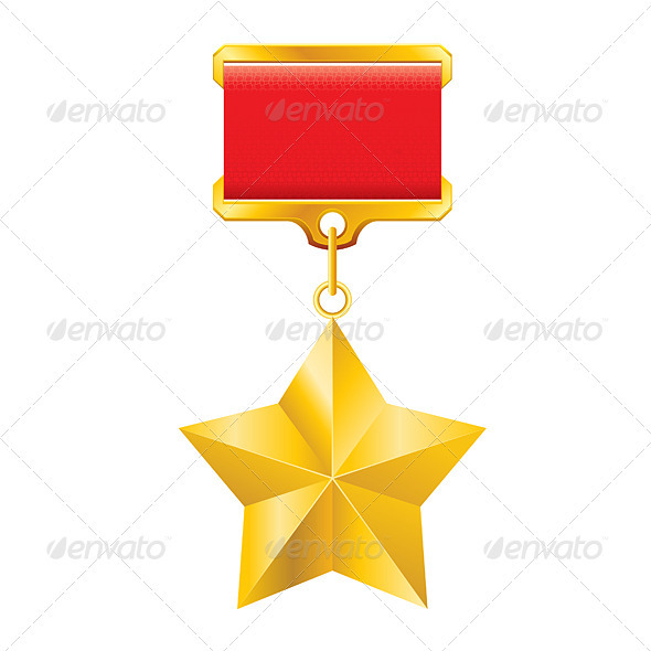 Graphic River Gold star award Vectors -  Decorative 2039569