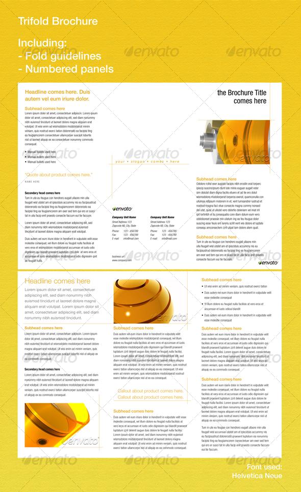 GraphicRiver Trifold Brochure 77715