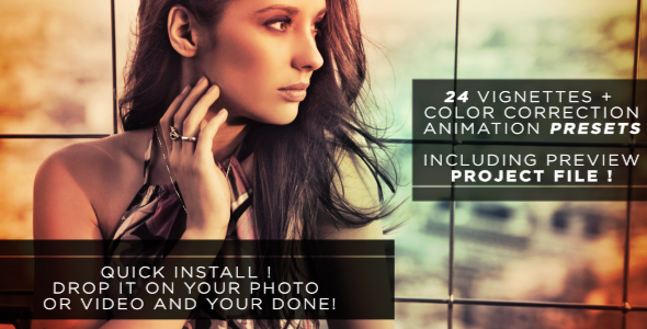After Effects Project - VideoHive Easy Vignette & Color Correction Pack 237 ...