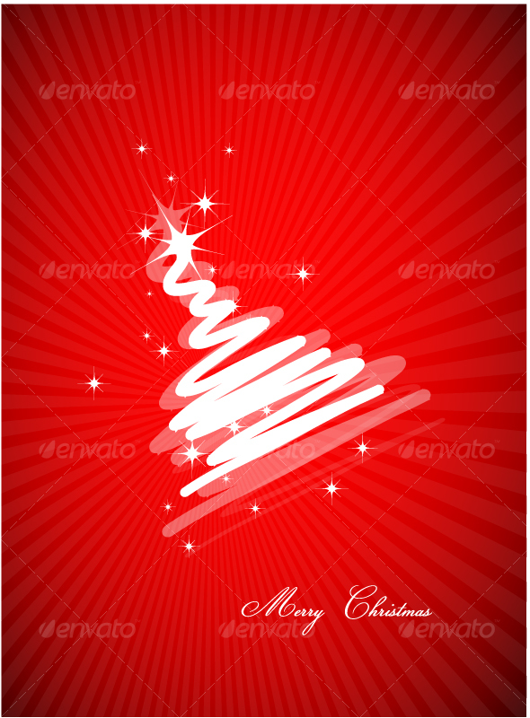 GraphicRiver Stylized Christmas Tree design 77753