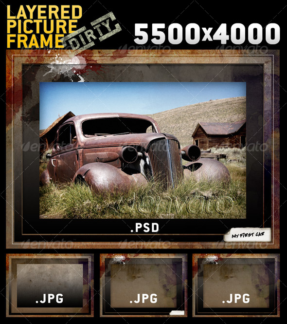 GraphicRiver BIG Layered Dirty Picture Frame Template 77827