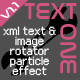 TextOne - XML text rotator with particle effect - ActiveDen Item for Sale