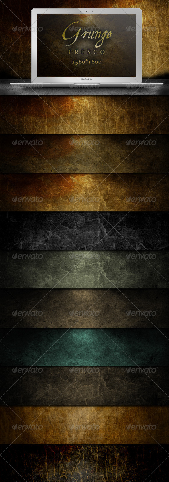 GraphicRiver Grunge Fresco Backgrounds Atmospheric Decay 237542