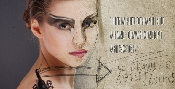 TutsPlus Photograph to Sketch art Tutorial 237598