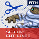 Scicors Cut Lines Generator - GraphicRiver Item for Sale