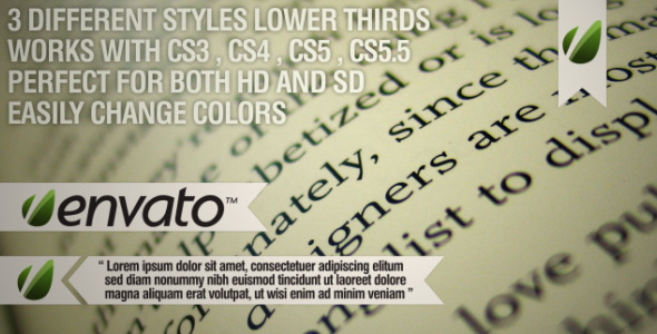 VideoHive Bookmark Lower Thirds 2046338