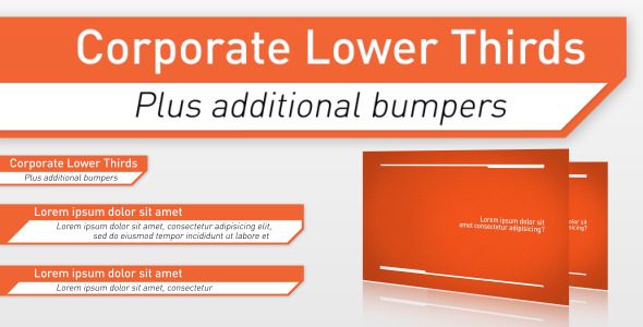 VideoHive Corporate Lower Thirds & Bumpers 2046586