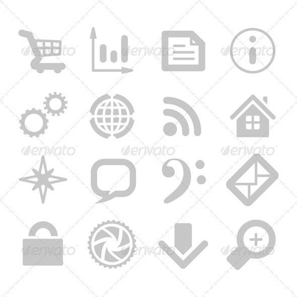 Graphic River Application Icons Vectors -  Conceptual  Technology  Communications 2048092