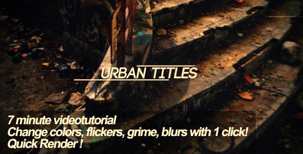 VideoHive Urban Titles 2049142