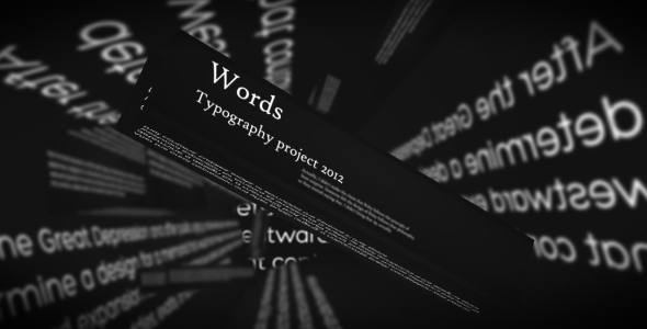 After Effects Project - VideoHive Word Typography Project 2052217