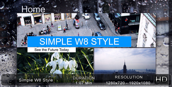 After Effects Project - VideoHive Simple W8 Style 2052223