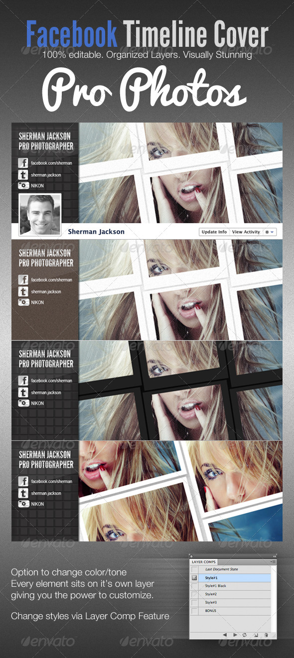 GraphicRiver Pro Photo Facebook Timeline Cover Template 2053065