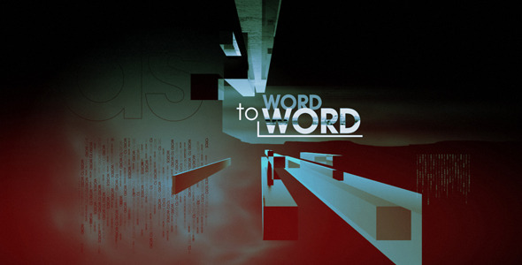 After Effects Project - VideoHive Word to Word 2026499