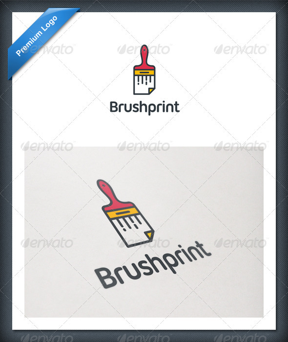 GraphicRiver Brush Print Logo Template 2055225