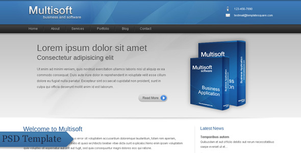 ThemeForest Multisoft Bussiness and Software Clean Template 77599