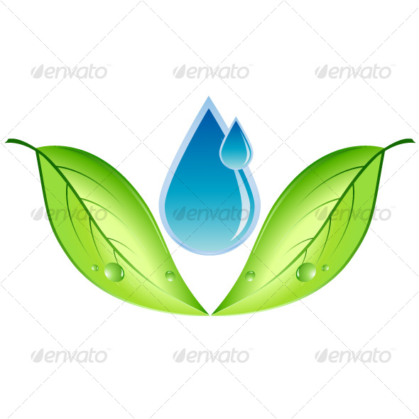 GraphicRiver Leaf and water drop 78250
