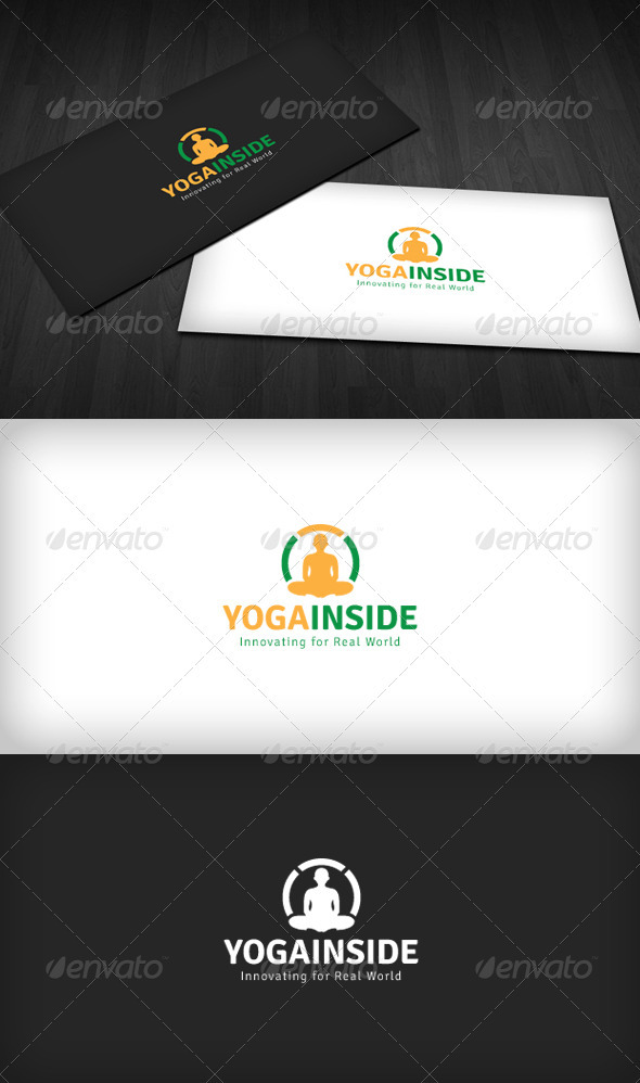 Graphic River Yoga Inside Logo Logo Templates -  Humans 2060185