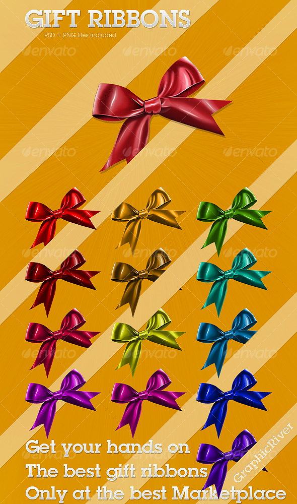 GraphicRiver Gift Ribbons 78362