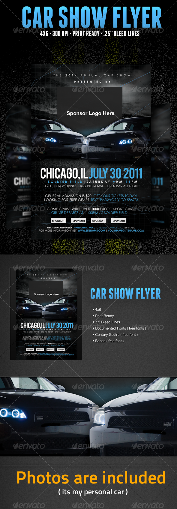 GraphicRiver Car Show Flyer Template 336254