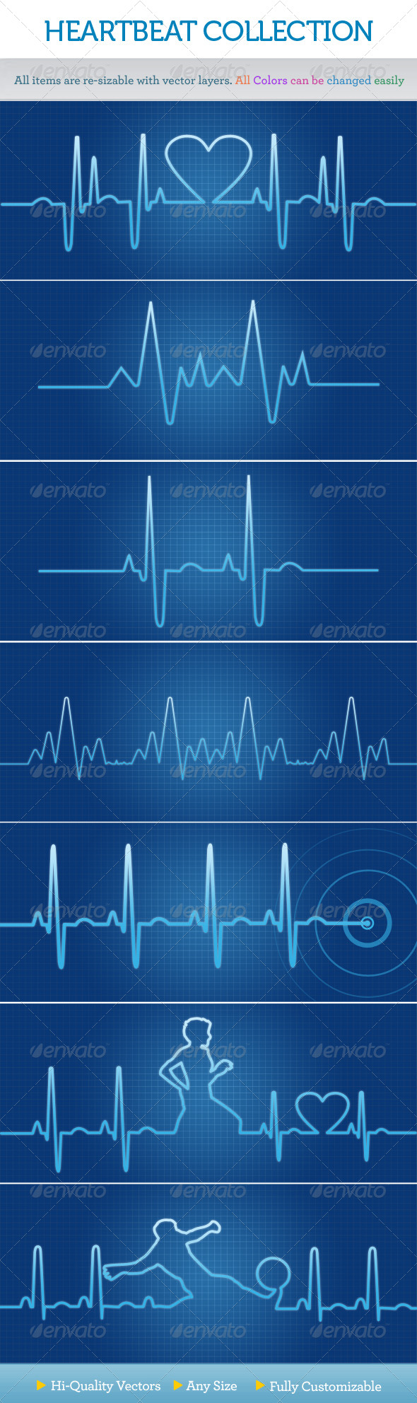 GraphicRiver Heartbeat Collection 238265