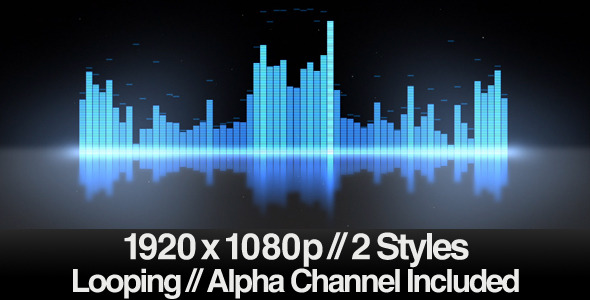 VideoHive Equalizer VU Meters Modern Audio 2 Styles Loop 2073428