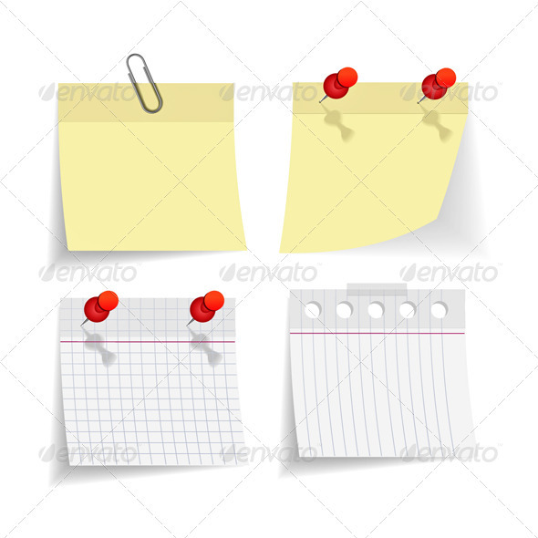 Graphic River Yellow Notice Papers  Vectors -  Conceptual  Abstract 2073706