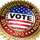 Set of Six 2012 US Presidential Election Buttons - GraphicRiver Item for Sale