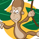 Monkey on a vine - GraphicRiver Item for Sale