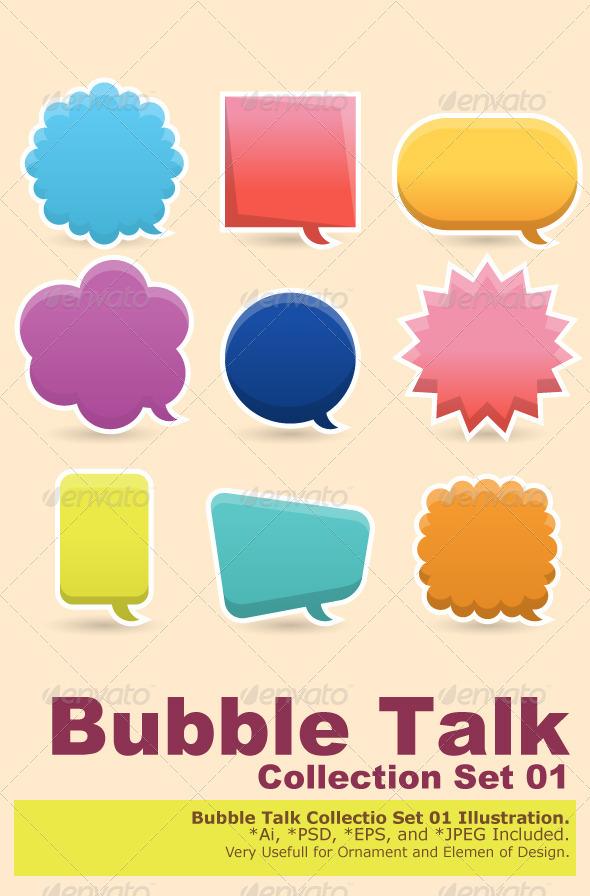 Graphic River Colorful Speech Bubble Vectors -  Decorative  Decorative Symbols 2075732