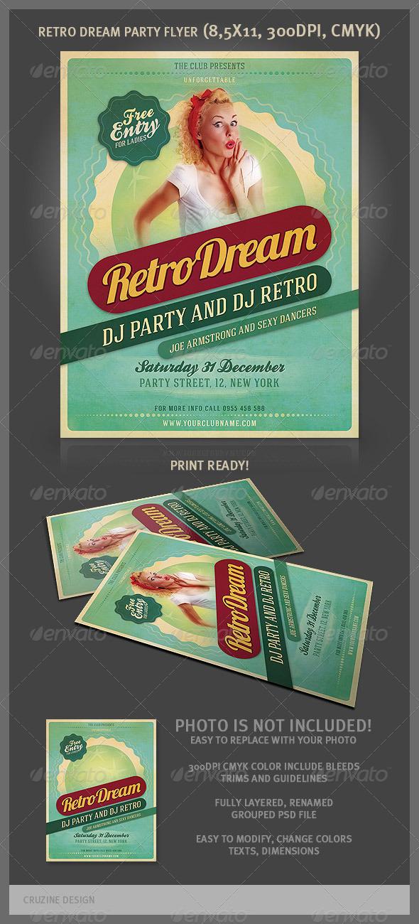 GraphicRiver Retro Dream Party Flyer 2077470